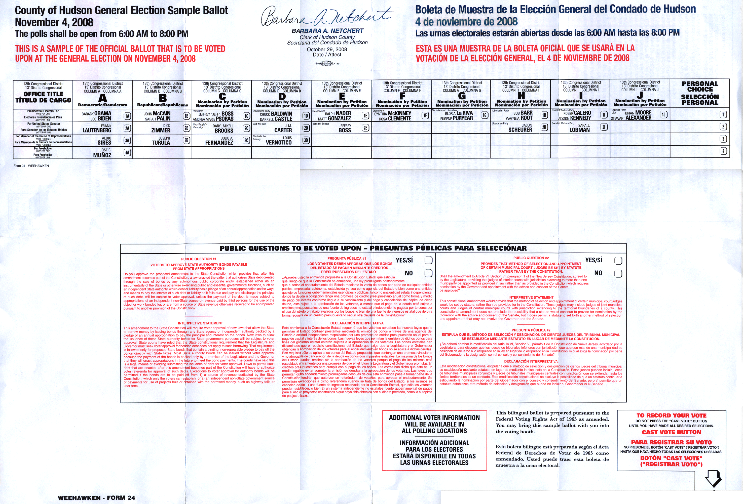 No Comment » Blog Archive » New Jersey Ballot Layout Problems